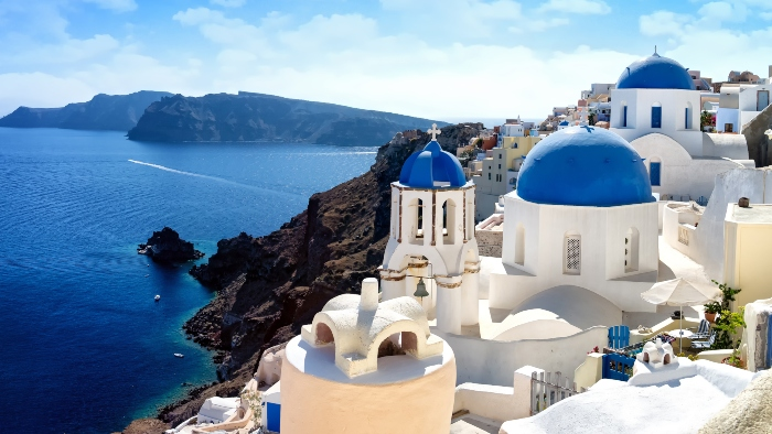 Greek islands hopping cruise Santorini