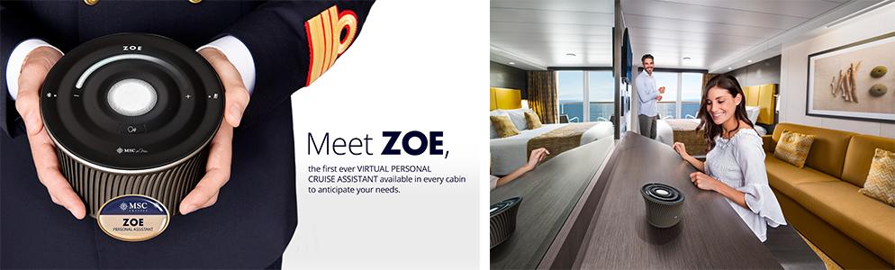 MSC cruises zoe technology