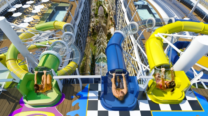 royal caribbean cruises with waterslides